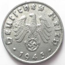 ГЕРМАНИЯ 1 ПФЕННИГ 1943 г. В