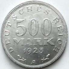 ГЕРМАНИЯ 500 МАРОК 1923 г. А UNC!