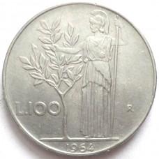 ИТАЛИЯ 100 ЛИР 1964 г.