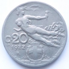 ИТАЛИЯ 20 ЧЕНТЕЗИМО 1922 г.