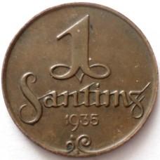 ЛАТВИЯ 1 САНТИМ 1935 г.  СОСТОЯНИЕ !!!