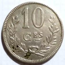 ЛЮКСЕМБУРГ 10 САНТИМ 1924 г.