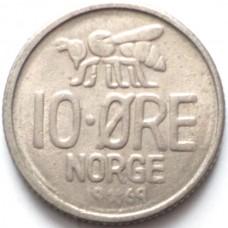 НОРВЕГИЯ 10 ЭРЕ 1969 г.