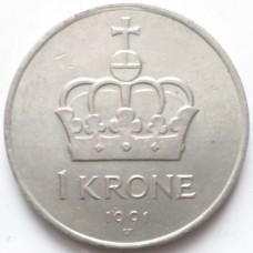 НОРВЕГИЯ 1 КРОНА 1976-1991 г.