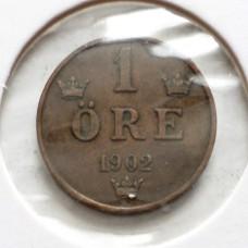 ШВЕЦИЯ 1 ЭРЕ 1902 г.