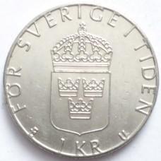 ШВЕЦИЯ 1 КРОНА 1980 г.