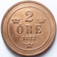 ШВЕЦИЯ 2 ЭРЕ 1882 г.
