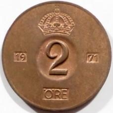 ШВЕЦИЯ 2 ЭРЕ 1971 г.