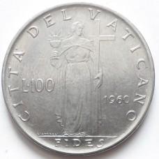 ВАТИКАН 100 ЛИР 1960 г.