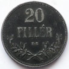 ВЕНГРИЯ 20 ФИЛЛЕРОВ 1916 г.