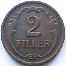 ВЕНГРИЯ 2 ФИЛЛЕРА 1934 г.