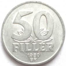 ВЕНГРИЯ 50 ФИЛЛЕРОВ 1989 г.