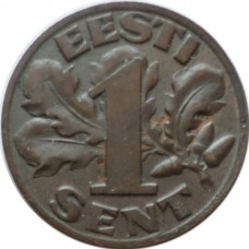ЭСТОНИЯ 1 ЦЕНТ 1929 г.