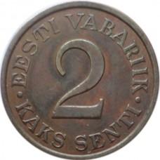 ЭСТОНИЯ 2 ЦЕНТА 1934 г.