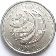 КАНАДА 25 ЦЕНТОВ 2000 г. МИЛЛЕНИУМ.