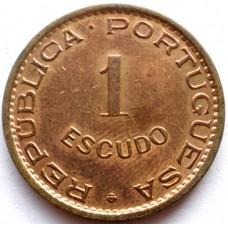 АНГОЛА 1 ЭСКУДО 1974 г.