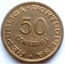 АНГОЛА 50 СЕНТАВО 1957 г.