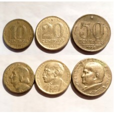 БРАЗИЛИЯ 10-20-50 СЕНТАВО 1953-1956 г.