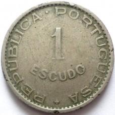 КАБО ВЕРДЕ 1 ЭСКУДО 1949 г.  РЕДКАЯ !