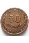 КАБО ВЕРДЕ 50 СЕНТАВО 1968 г.  РЕДКАЯ !