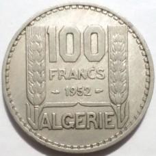 АЛЖИР 100 ФРАНКОВ 1952 г.