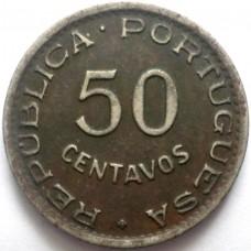 АНГОЛА 50 СЕНТАВО 1948 г.