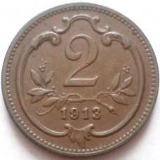 АВСТРИЯ 2 ХЕЛЛЕРА 1913 г. UNC !!!