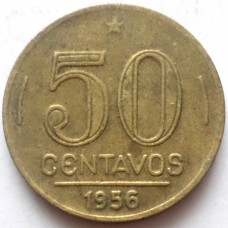 БРАЗИЛИЯ 50 СЕНТАВО 1956 г.