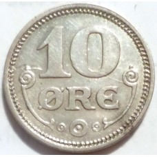 ДАНИЯ 10 ЭРЕ 1919 г.  СЕРЕБРО!