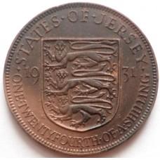 ДЖЕРСИ 1/24 ШИЛЛИНГА 1931 г. ГЕОРГ V.