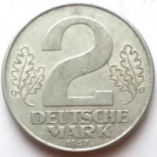 ГДР 2 МАРКИ 1957 г. ГОД-ТИП!