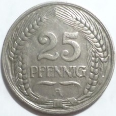 ГЕРМАНИЯ 25 ПФЕННИГОВ 1910 г.
