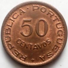 ГВИНЕЯ 50 СЕНТАВО 1952 г.