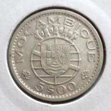 МОЗАМБИК 5 ЭСКУДО 1960 г. СЕРЕБРО !