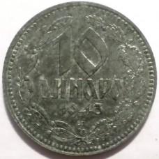 СЕРБИЯ 10 ДИНАР 1943 г.