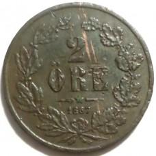ШВЕЦИЯ 2 ЭРЕ 1867 г.