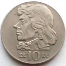 ПОЛЬША 10 ЗЛОТЫХ 1970 г. КОСТЮШКО. ТИП-2.