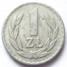 ПОЛЬША 1 ЗЛОТЫЙ 1949 г. АЛЮМИНИЙ. РЕДКАЯ!