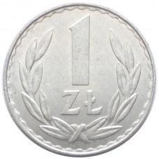 ПОЛЬША 1 ЗЛОТЫЙ 1977-1985 г.  ТИП-1