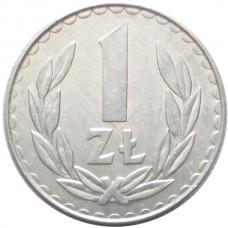 ПОЛЬША 1 ЗЛОТЫЙ 1986-1988 г.  ТИП-2