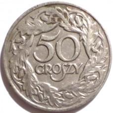 ПОЛЬША 50 ГРОШ 1923 г.