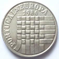 ПОРТУГАЛИЯ 25 ЭСКУДО 1986 г. ЕВРОПА.