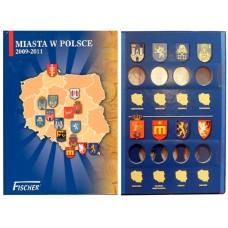 АЛЬБОМ ДЛЯ МОНЕТ 2 ЗЛОТЫХ 2009-2011 г. ГОРОДА В ПОЛЬШЕ.