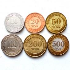 АРМЕНИЯ НАБОР 6 МОНЕТ 2003-2004 г. UNC!