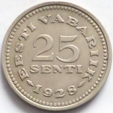 ЭСТОНИЯ 25 СЕНТИ 1928 г. РЕДКАЯ!