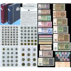 ГДР БОЛЬШАЯ КОЛЛЕКЦИЯ МОНЕТ, БАНКНОТ, МАРОК В АЛЬБОМАХ