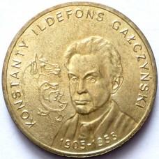 ПОЛЬША 2 ЗЛОТЫХ 2005 г.  К. И. ГАЛЧИНЬСКИЙ.